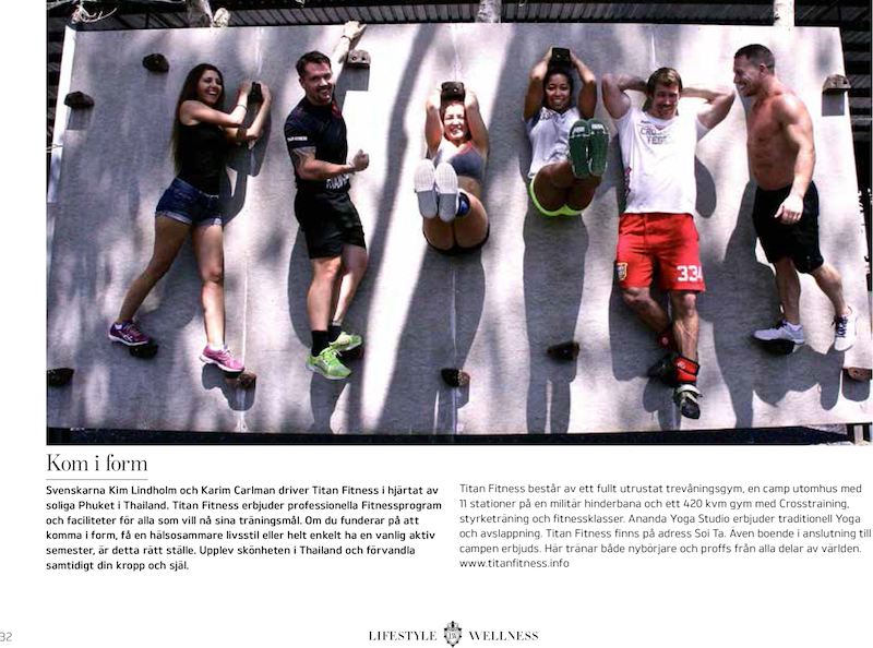 Titan Fitness Cmap in lifestyle_wellness magazine