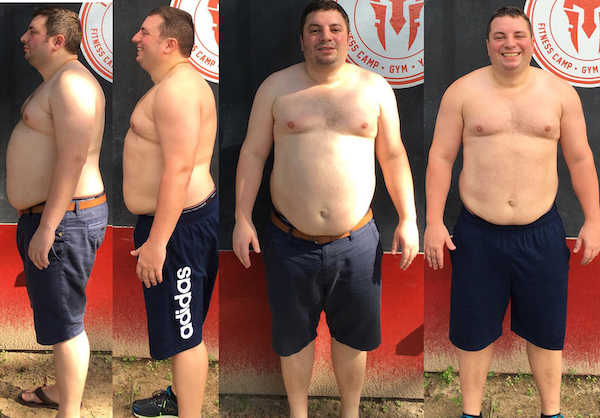 Weight loss program in Phuket Thailand - before and after - 5 weeks
