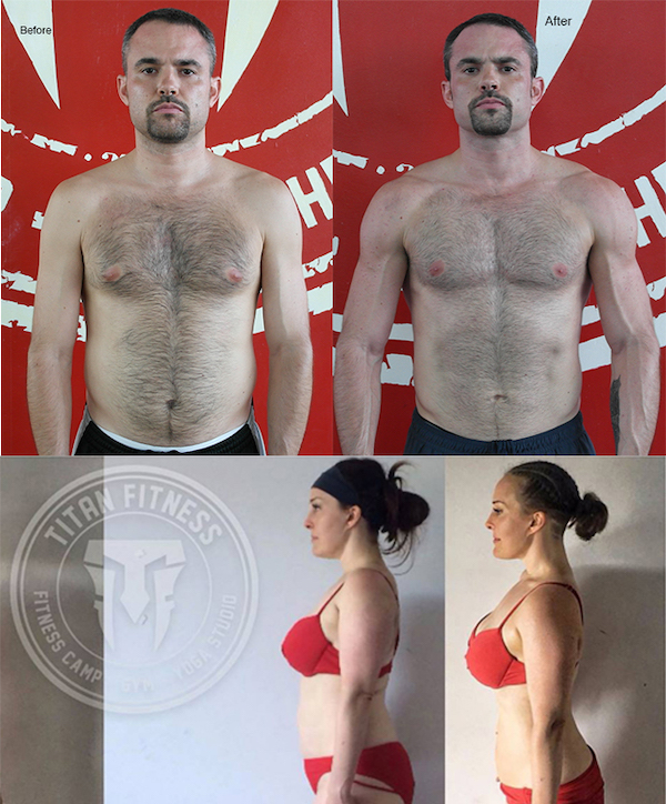 Weight loss program in Phuket Thailand - before and after Titan Fitness Camp