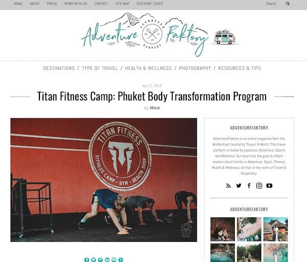 Titan Fitness Adventure Faktory